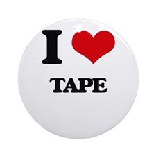 I love Tape Ornament (Round)