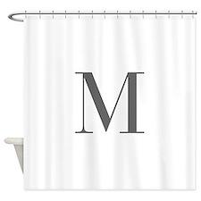 M-bod gray Shower Curtain