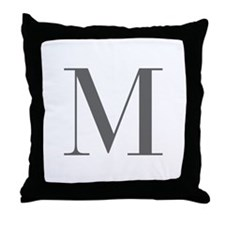 M-bod gray Throw Pillow