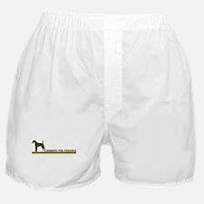 Smooth Fox Terrier (retro-blu Boxer Shorts