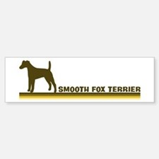 Smooth Fox Terrier (retro-blu Bumper Bumper Bumper Sticker