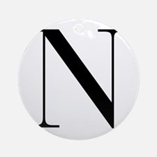 N-bod black Ornament (Round)