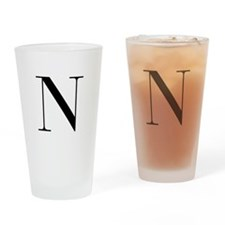 N-bod black Drinking Glass