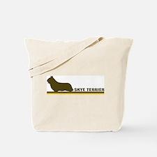 Skye Terrier (retro-blue) Tote Bag