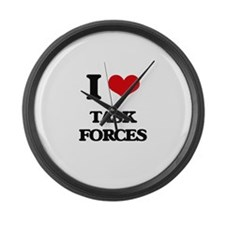 I love Task Forces Large Wall Clock