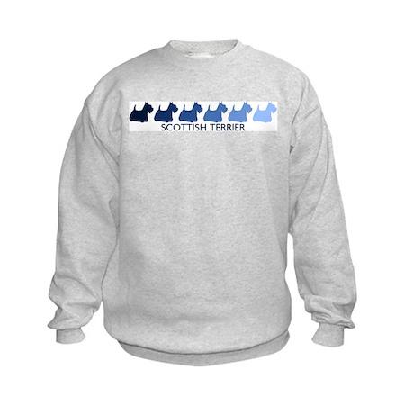 Scottish Terrier (blue color Kids Sweatshirt