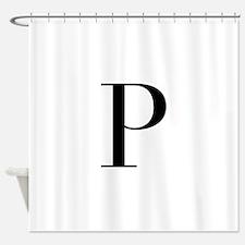 P-bod black Shower Curtain