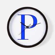 P-bod blue Wall Clock