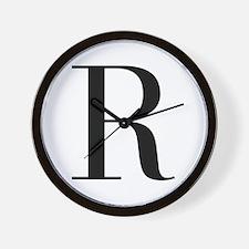 R-bod black Wall Clock