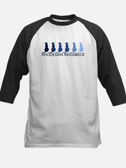 Rhodesian Ridgeback (blue col Kids Baseball Jersey