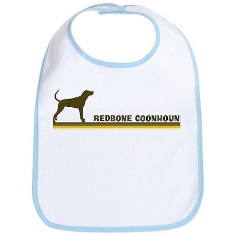 Redbone Coonhound (retro-blue Bib