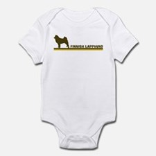 Finnish Lapphund (retro-blue) Infant Bodysuit