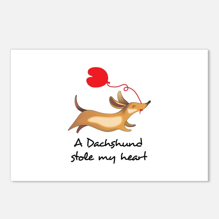 DACHSHUND STOLE MY HEART Postcards (Package of 8)