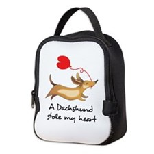 DACHSHUND STOLE MY HEART Neoprene Lunch Bag