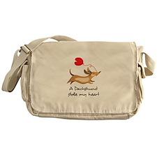 DACHSHUND STOLE MY HEART Messenger Bag