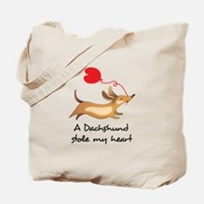 DACHSHUND STOLE MY HEART Tote Bag