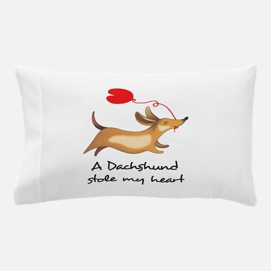 DACHSHUND STOLE MY HEART Pillow Case