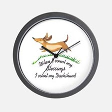 DACHSHUND BLESSINGS Wall Clock
