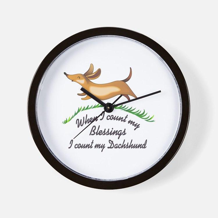 DACHSHUND BLESSINGS Wall Clock