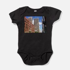 A Walk Through The City Dry Brushed Baby Bodysuit