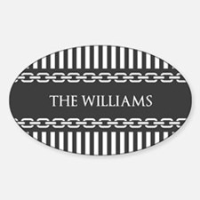 Gray and White Stripes Person Decal