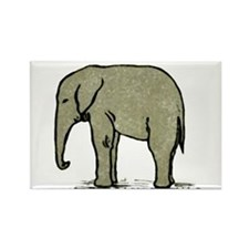Cute Elephant Rectangle Magnet