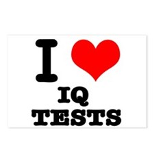I Heart (Love) IQ Tests Postcards (Package of 8)