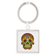 DAY OF THE DEAD SKULL Keychains