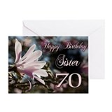 70th birthday sister Greeting Cards