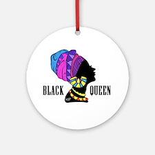 Black African Queen Ornament (Round)