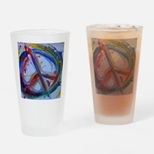 abstract peace Drinking Glass