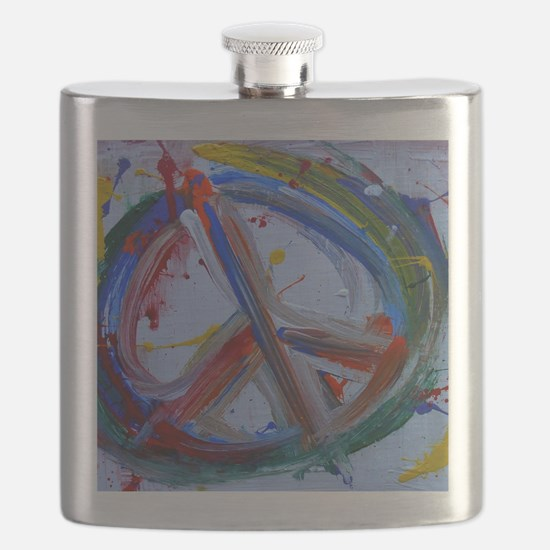 abstract peace Flask