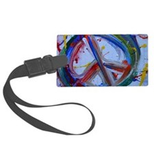 abstract peace Luggage Tag