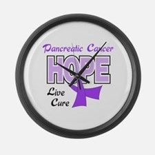 CURE PANCREATIC CANCER Large Wall Clock