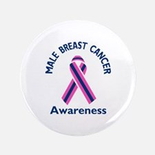 """MALE BREAST CANCER 3.5"""" Button (100 pack)"""