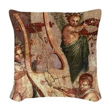 Herculaneum Cupids Woven Throw Pillow