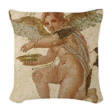 Pompeii Cupid Woven Throw Pillow