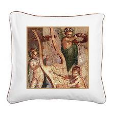 Grande Herculaneum Cupids Square Canvas Pillow