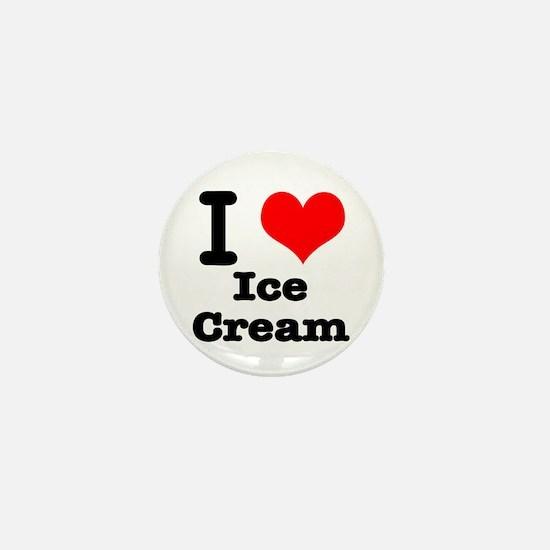 I Heart (Love) Ice Cream Mini Button