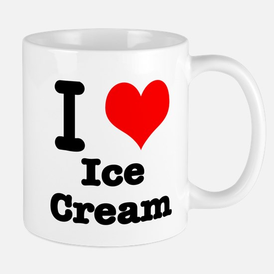 I Heart (Love) Ice Cream Mug