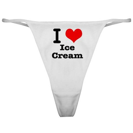 I Heart (Love) Ice Cream Classic Thong