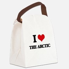 I Love The Arctic Canvas Lunch Bag