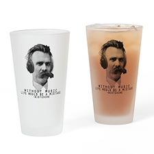 Friedriech Nietzsche: Music Is Life Drinking Glass