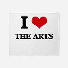 I Love The Arts Throw Blanket