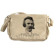 Friedriech Nietzsche: Music Is Life Messenger Bag