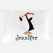 Personalized Penguin Childrens Pillow Case