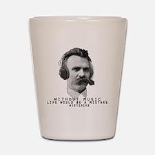 Friedriech Nietzsche: Music Is Life Shot Glass
