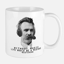 Friedriech Nietzsche: Music Is Life Mugs