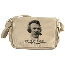 Friedriech Nietzsche: Music Is Life Messenger Bag