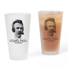 Friedriech Nietzsche: Music Is Life Drinking Glass